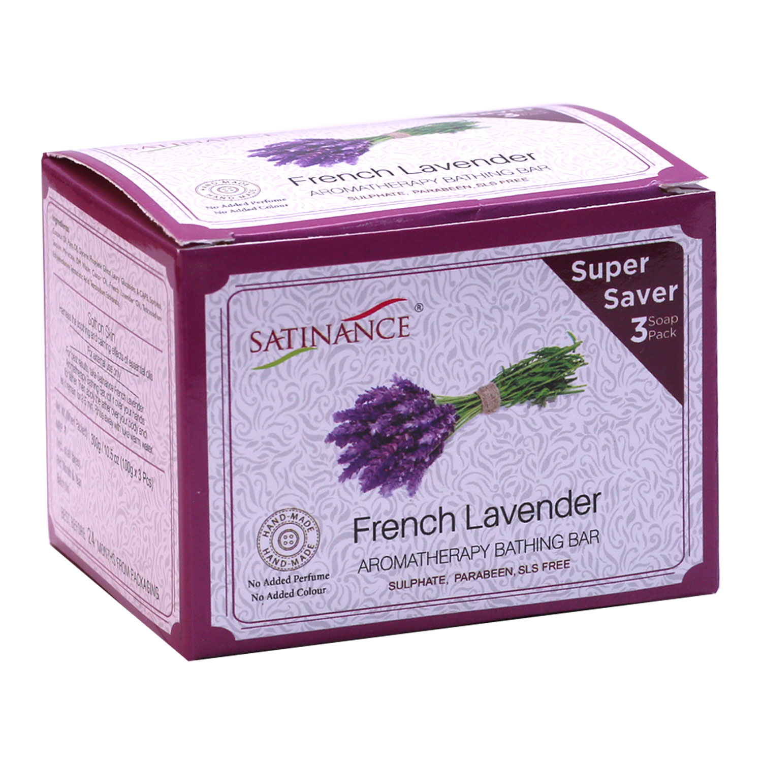 French Lavender Aromatherapy Bathing Bar 300g (100g*3) Super Saver Pack
