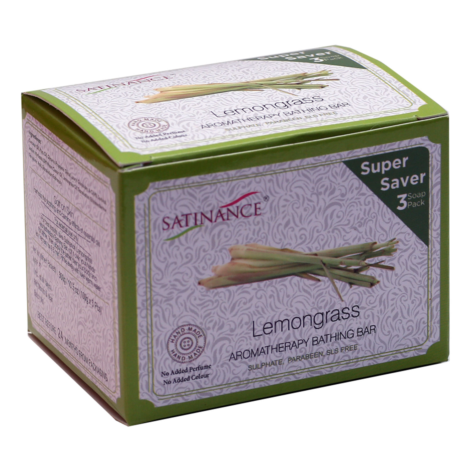 Lemongrass Aromatherapy Bathing Bar 300g (100g*3) - Super Saver Pack
