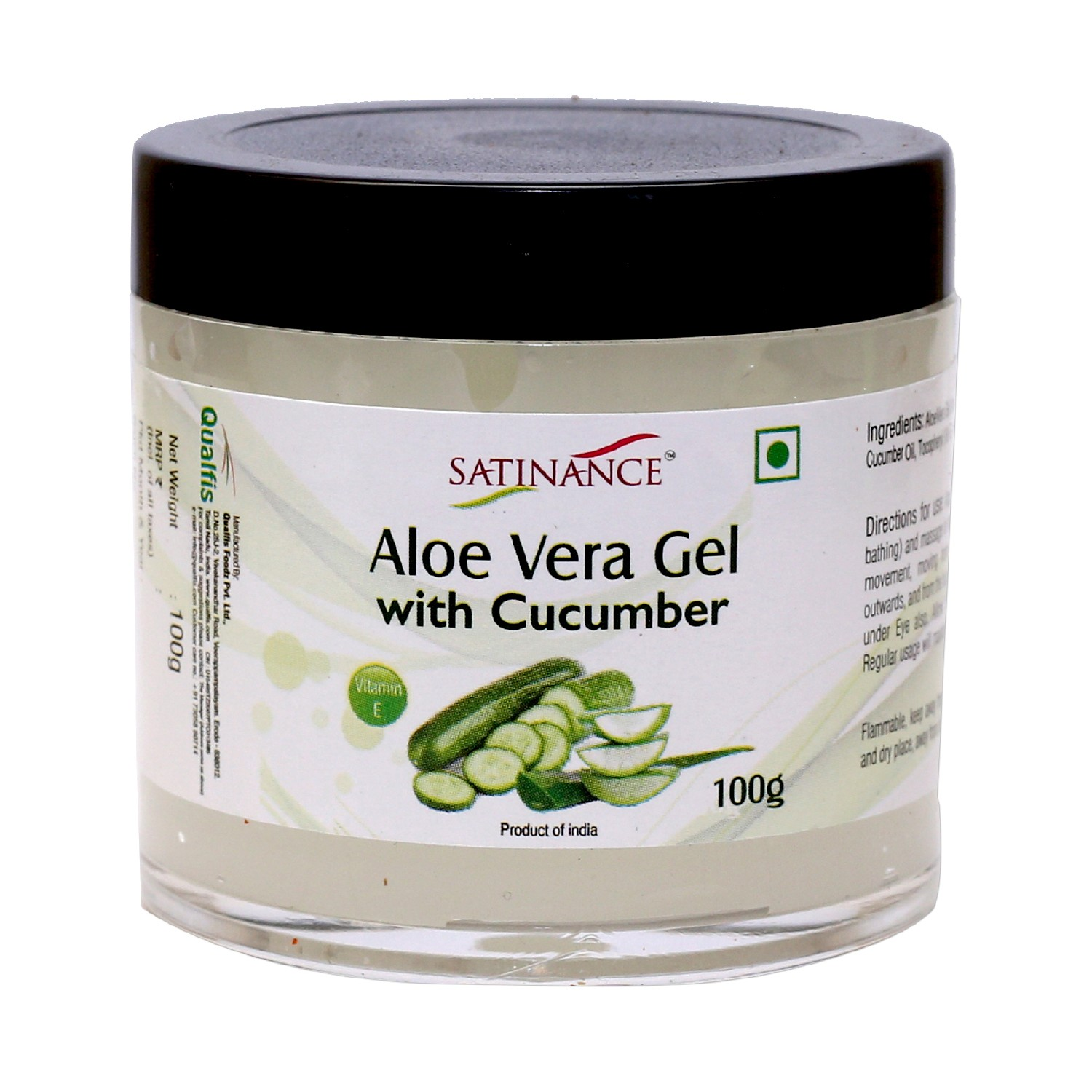 Aloe Vera Gel With Cucumber for Face - 100g ( With Vitamin E)