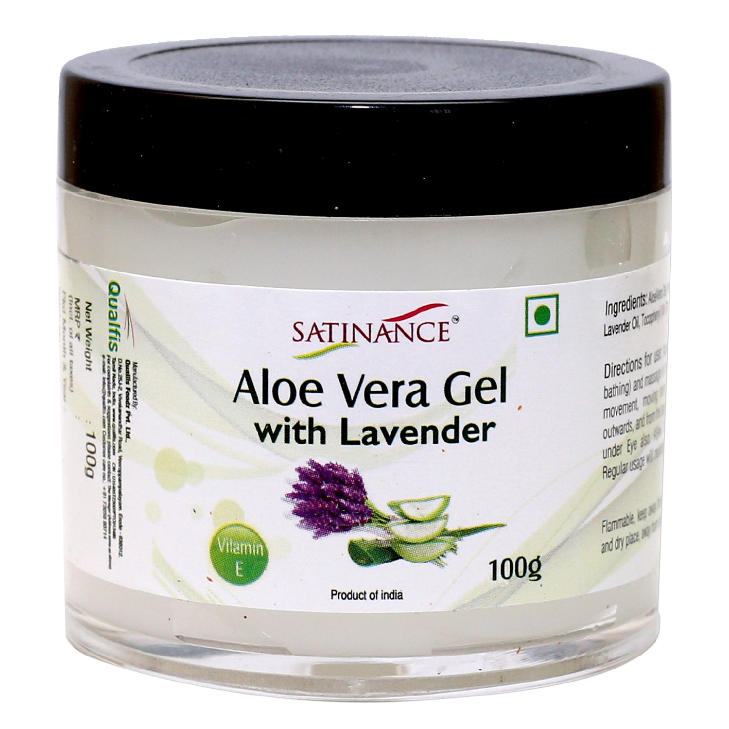 Aloe Vera Gel With Lavender for Face – 100g ( With Vitamin E)