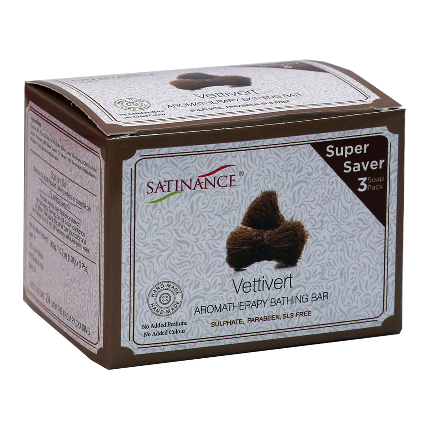 Vettivert Aromatherapy Bathing Bar 300g (100g*3) Super Saver Pack